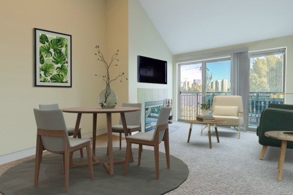 WEB-diningliving LAURIE WAY ANNOUNCES | QUEEN ANNE VIEW CONDOMINIUM | 566 PROSPECT ST #406