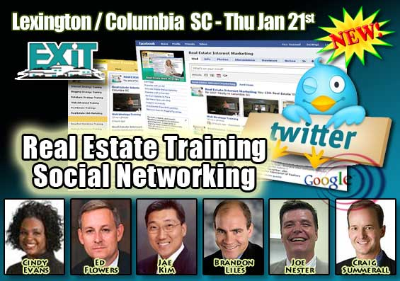 Lexington Columbia SC Real Estate Social Networking Training Thursday January 21st 2010