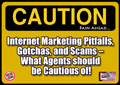 Caution - Pain ahead: Internet Marketing Scams, Pitfalls, and Gotchas – what Agents should be mindful of!