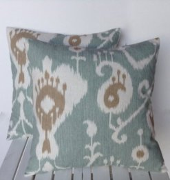 Off center patterned pillow