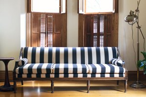 Striped sofa