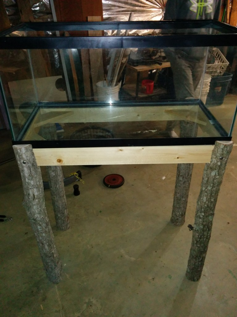 DIY Fish Tank Stand Completed