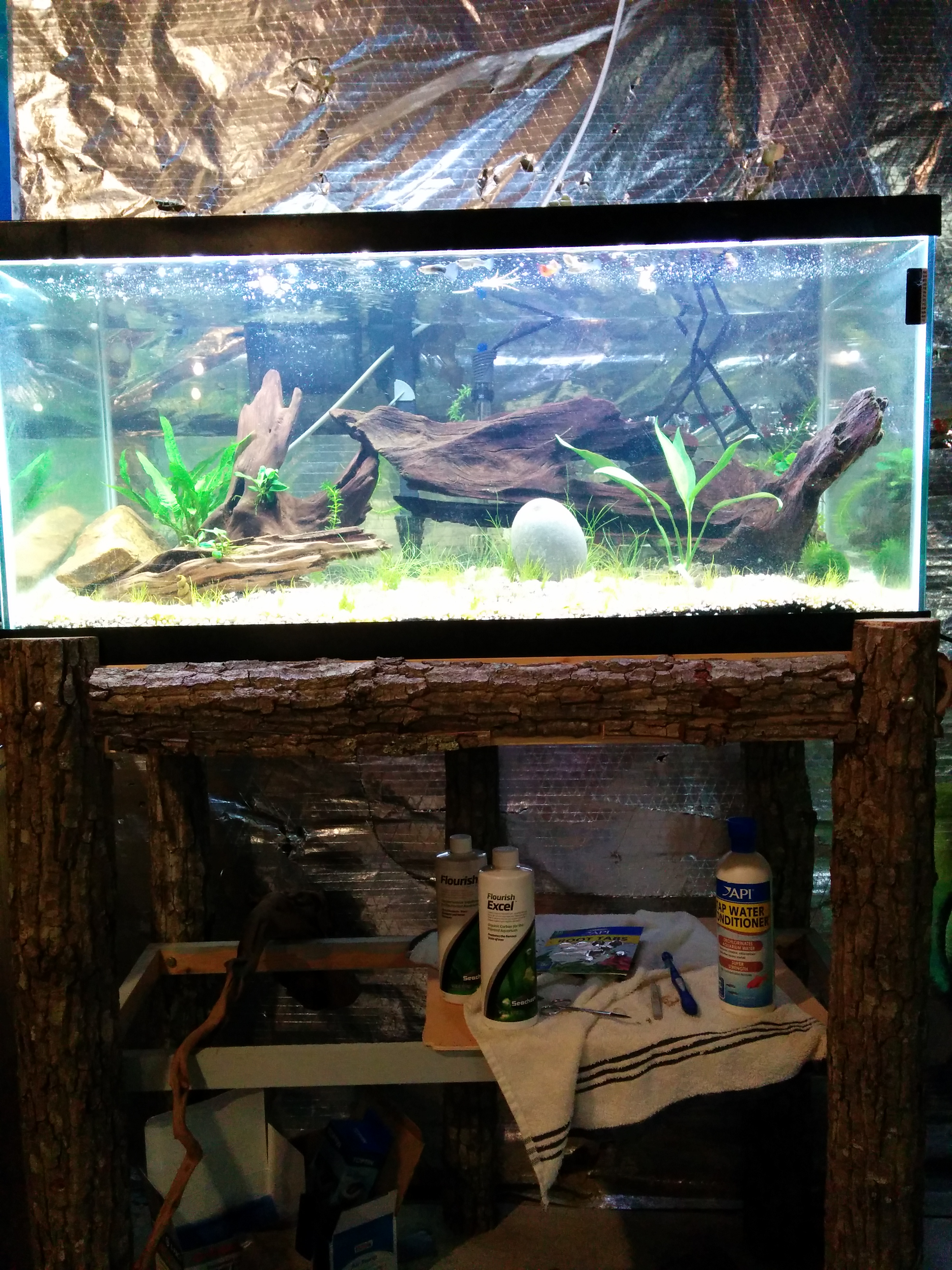 how to build a diy fish tank stand realest nature