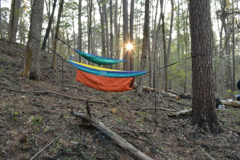 Davy Crockett National Forest Hammock Camping