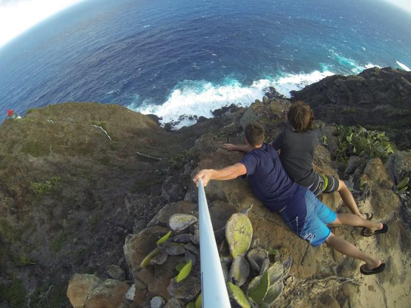 Makapu'u lighthouse cliff, oahu, gopro