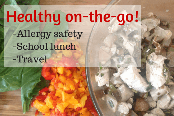 Healthy on-the-go lunch box