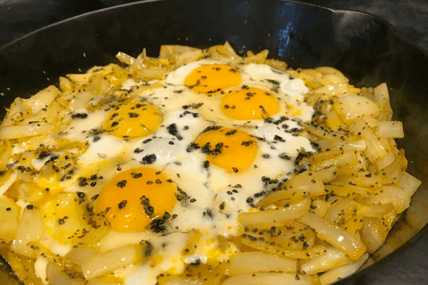 Egg Breakfast with onion