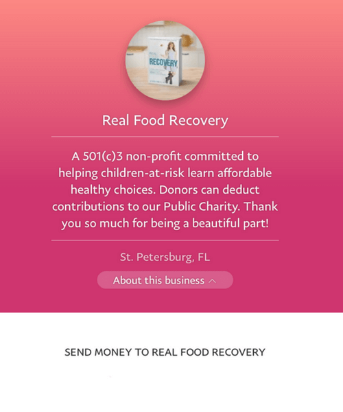 Real food recovery cookbook to heal and Donate for orphans
