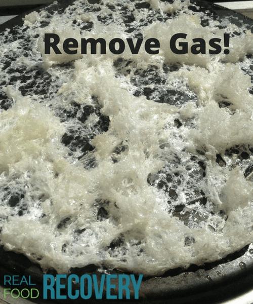 Remove gas