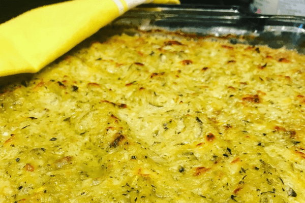 Squash Casserole with my new knives