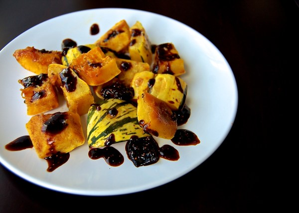 Cinnamon Roasted Delicata Squash with Balsamic-Fig Compote - Real Food with Dana