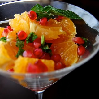 Pomegranate Orange and Mint Salad