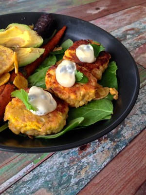 Salmon Cakes with Lemon Caper Aioli - Real Food with Dana