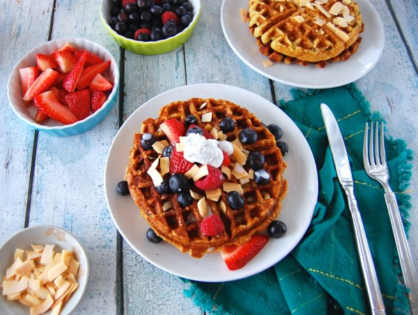 Paleo Berries & Cream Waffles - Real Food with Dana