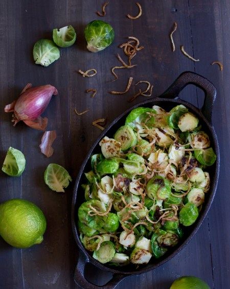 Caramelized Brussels Sprouts with Shallots and Lime - Nourish: the Paleo Healing Cookbook Review - Real Food with Dana