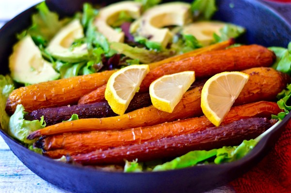 Roasted Carrot & Avocado Salad - Real Food with Dana