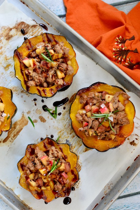 Spiced Apple Stuffed Acorn Squash | Real Food with Dana