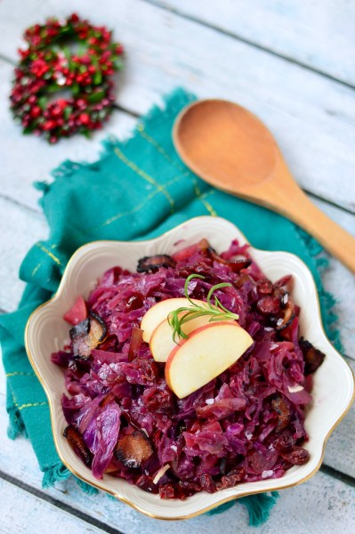 Bacon-Braised Red Cabbage with Apples | Real Food with Dana
