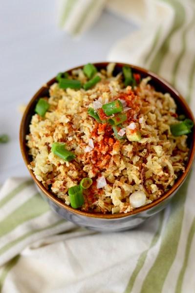 Oven Roasted Cauliflower Rice   Real Food with Dana