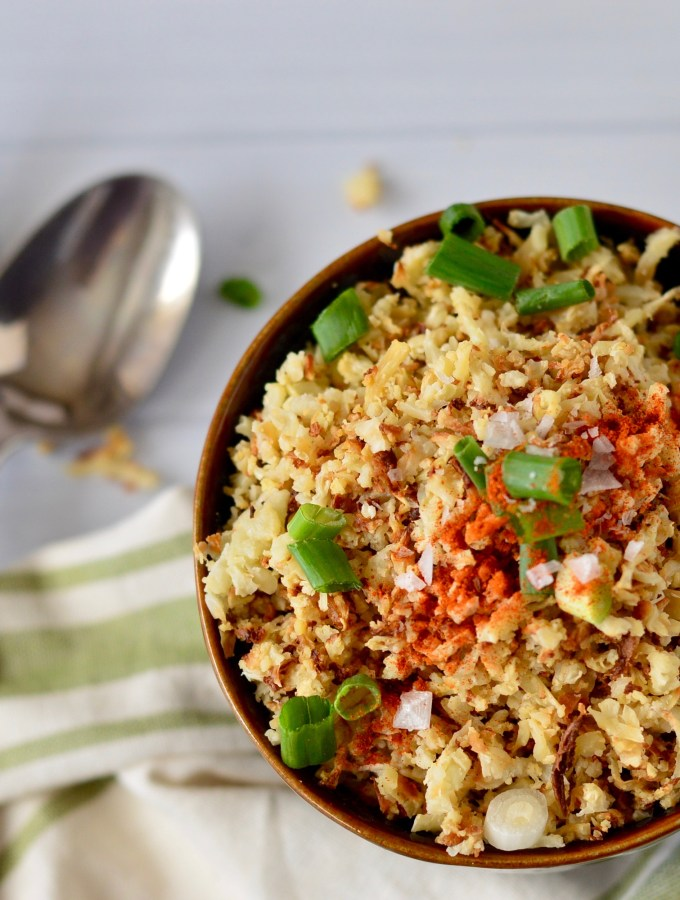 Easy Oven Roasted Cauliflower Rice