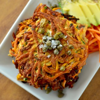 Zucchini, Bacon & Sweet Potato Pancakes
