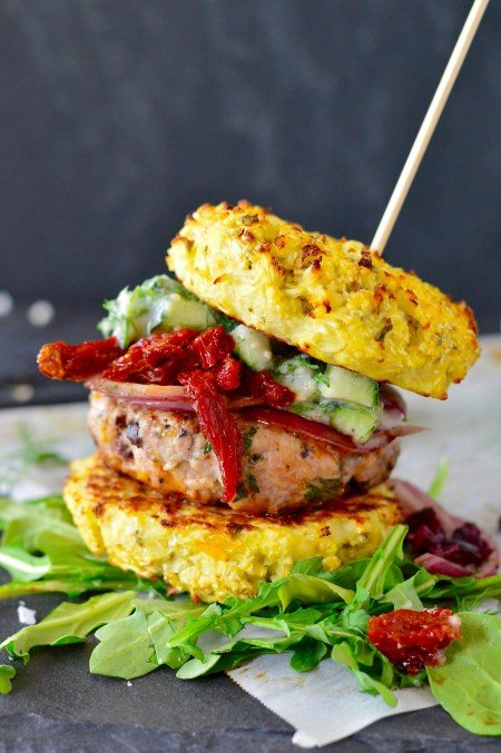 Loaded Greek Chicken Burgers | Real Food with Dana