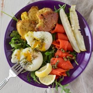 Poached Egg & Smoked Salmon Salad