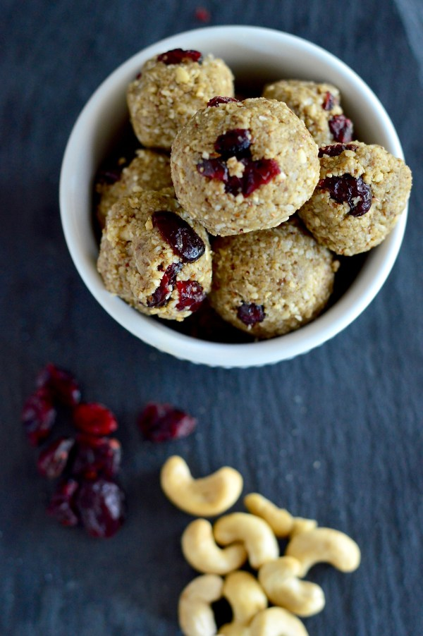 Cashew Cranberry Protein Power Bites | Real Food with Dana