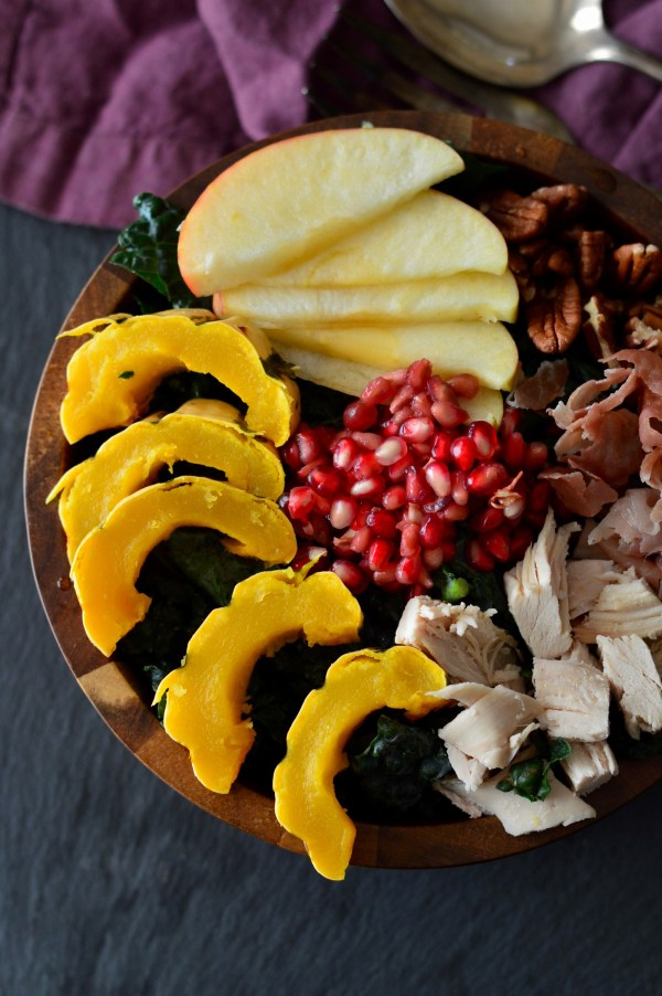 Fall Harvest Salad with Maple Mustard Vinaigrette | Real Food with Dana
