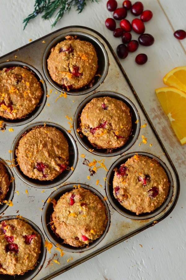 Cranberry Olive Oil Muffins with Orange Zest | Real Food with Dana