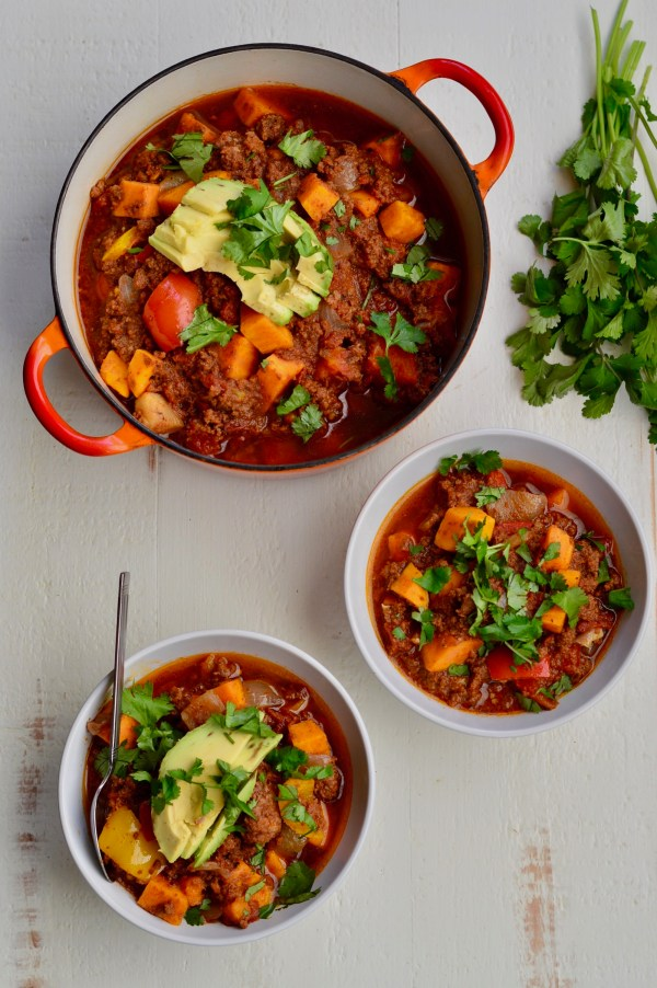Slow Cooker Chipotle-Chocolate Sweet Potato Chili | Real Food with Dana