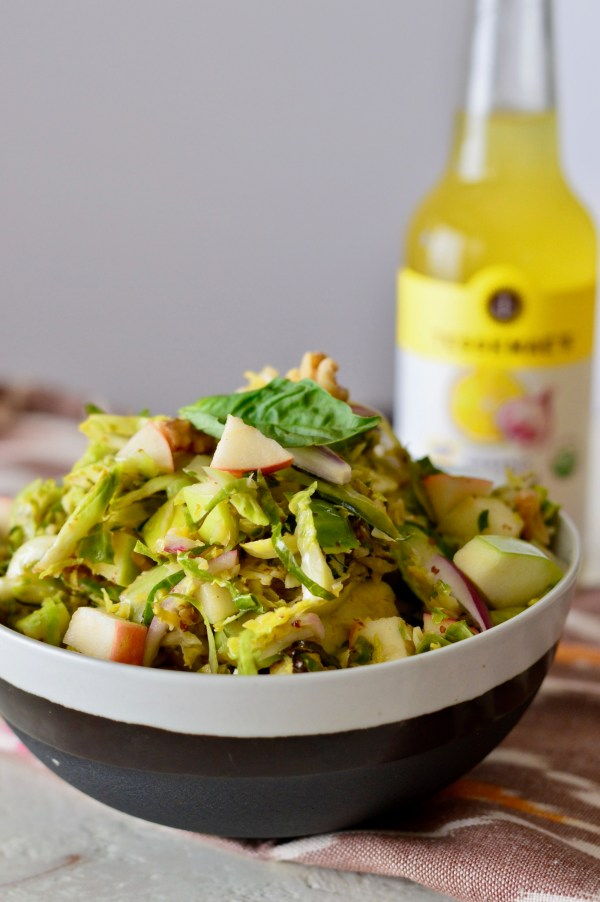 Warm Brussels Sprouts Slaw with Apples & Walnuts | Real Food with Dana