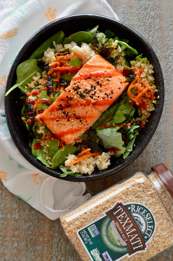 Sesame Salmon Bowls with Cauliflower Rice | Real Food with Dana