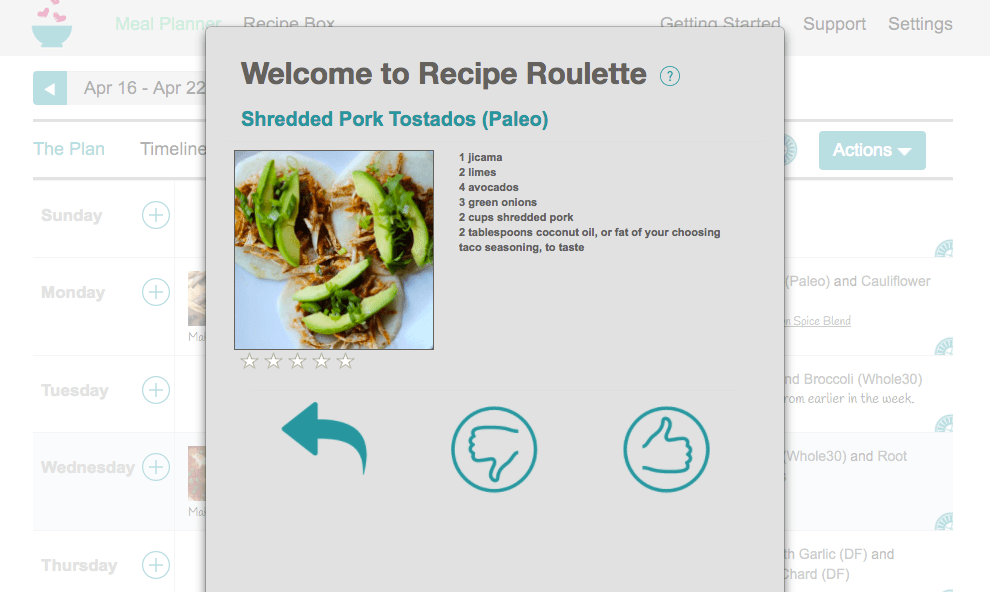 Recipe roulette real plans real food with dana recipe roulette real plans forumfinder Image collections