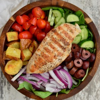 Simple Whole30 Greek Salad