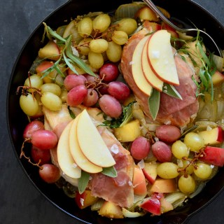 One-Pan Herb Chicken with Roasted Grapes & Apples