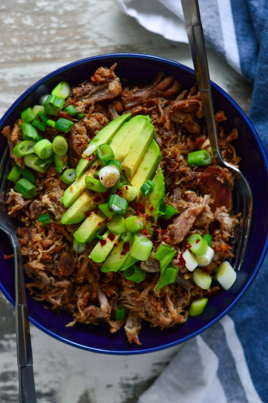 Roasted Garlic Pulled Pork (Slow Cooker & IP) | Real Food with Dana