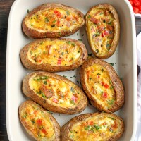 Paleo Whole30 Egg Potato Boats