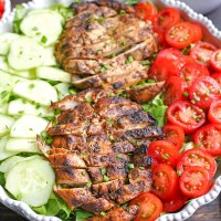 Paleo Whole30 Chicken Shawarma Salad