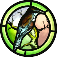 How to paint this stained glass bird - design and techniques
