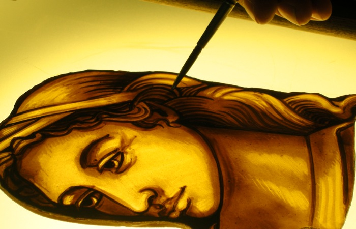 How to paint stained glass