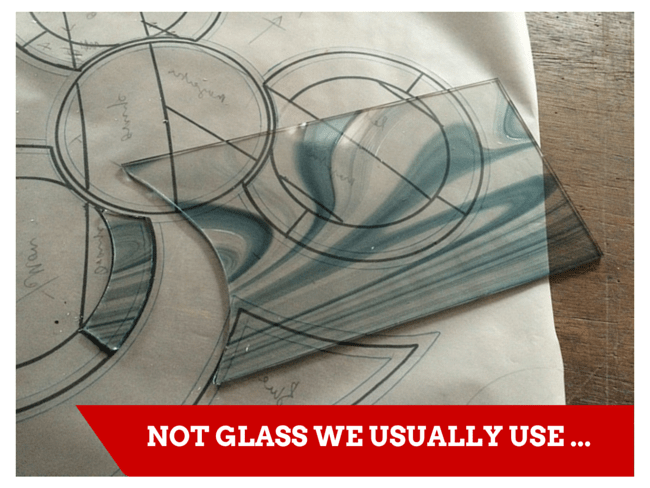 Unusual glass for us