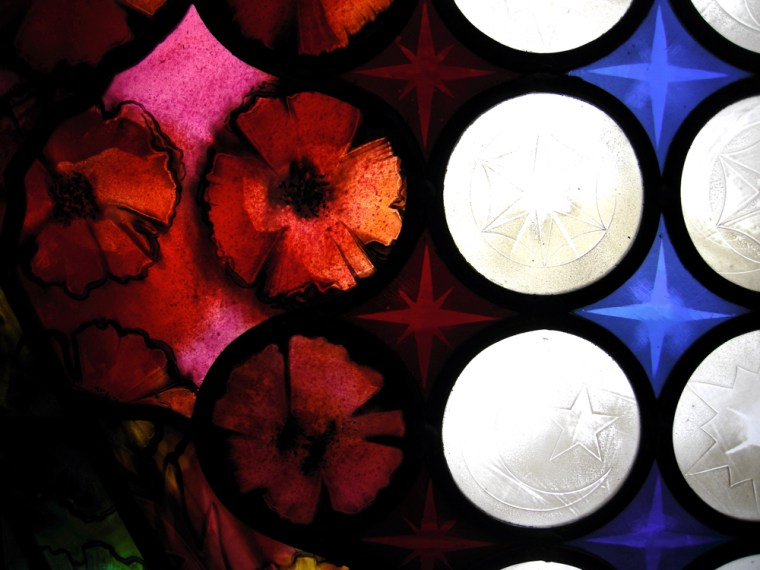Stained-glass poppies