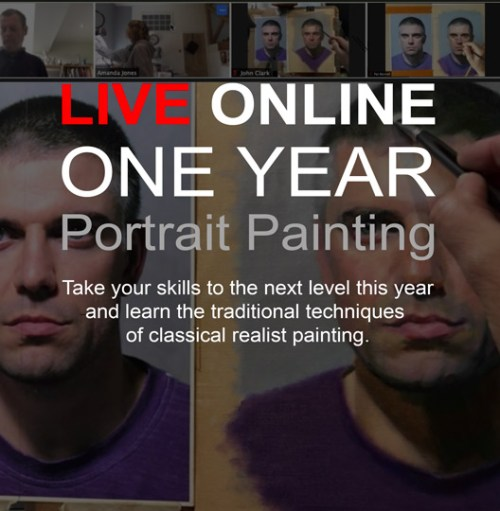 Online portrait painting course