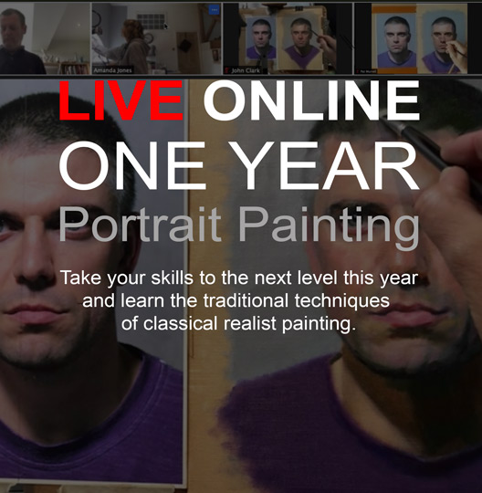Online portrait painting course