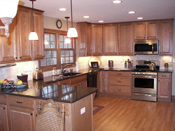 Kitchen Remodeling Services in Milwaukee  Waukesha  and Mequon     Racine kitchen remodel with granite countertops and new cabinets