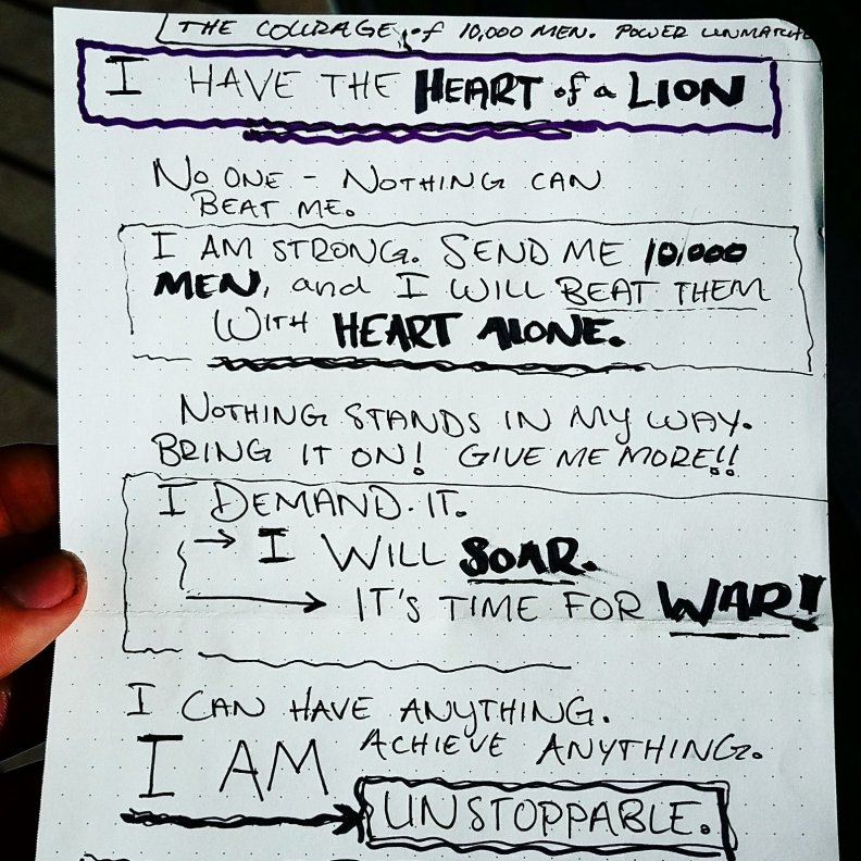 Heart of a Lion Motivation - The Conscious Community Notebook