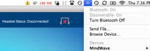 MindWave, Bluetooth, sigh.