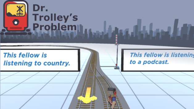 trolley problem game screenshot