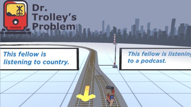 trolley problem game screenshot